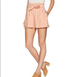 NWT BCBGMAXAZARIA Paperbag style tie-up shorts